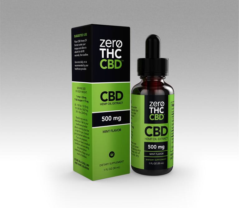 500mg THC Free Tincture - Mint (CASE)