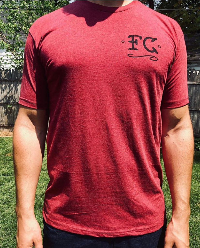 Fabricated Customs FC Badge Print Location T-shirt