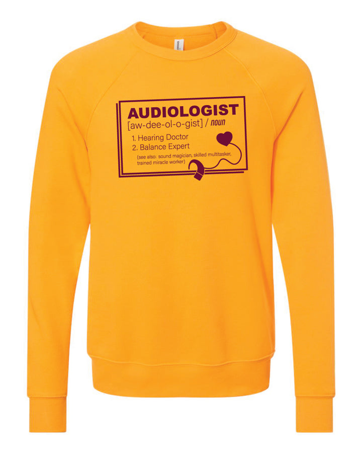 CMU Audiology Definition- Unisex Crew Neck Sweatshirt