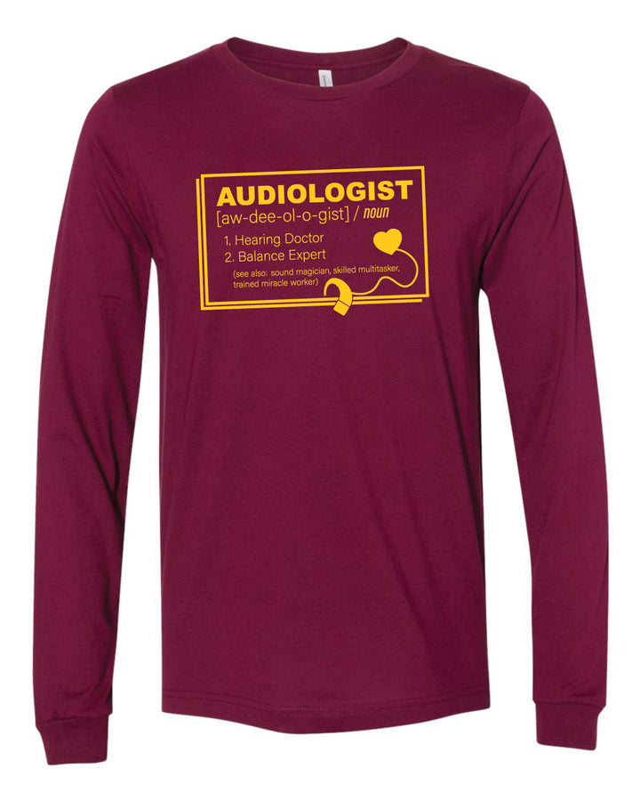 CMU Audiology Definition- Unisex Long Sleeve T-Shirt