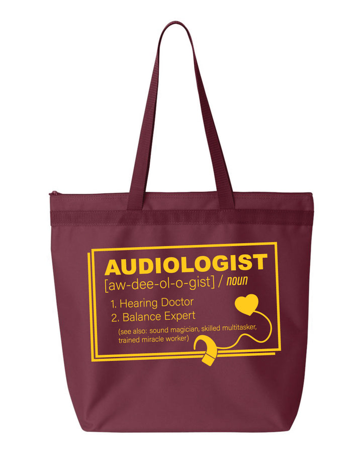 CMU Audiology Definition- Zipper Tote
