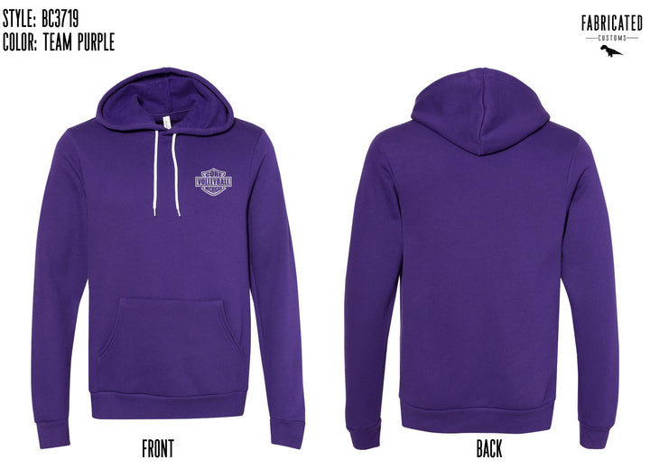 Core Volleyball - Purple Badge Hoodie