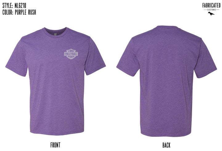 Core Volleyball - Purple Badge T-shirt