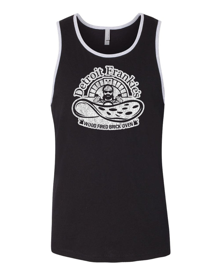 Detroit Frankie's Wood Fired Brick Oven - Men's Black Tank Top