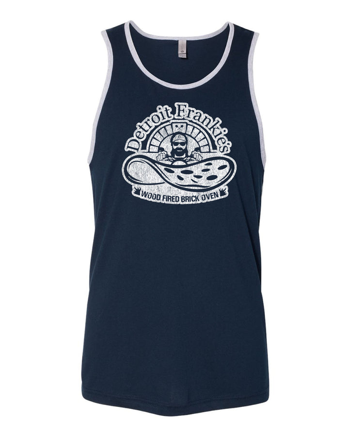 Detroit Frankie's Wood Fired Brick Oven - Men's Navy Tank Top