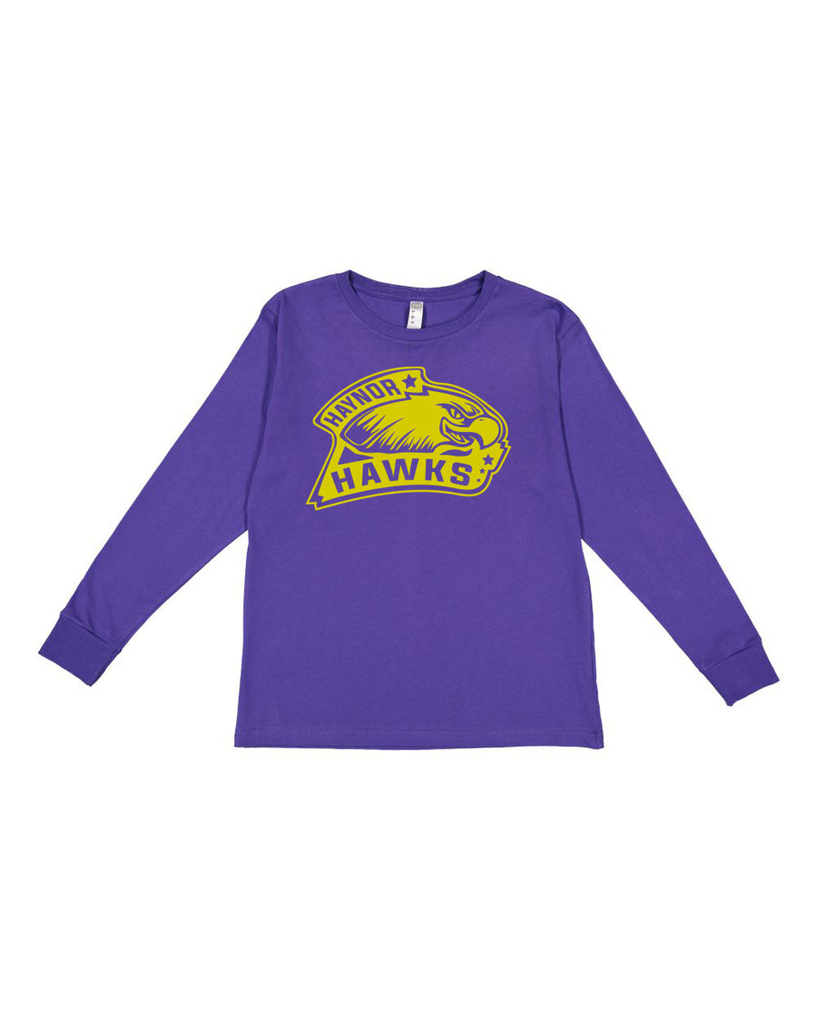 Haynor Hawks - Purple Youth Long Sleeve