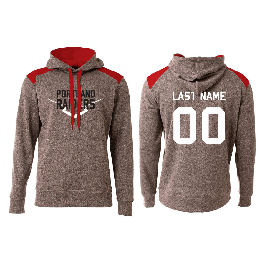 Portland Raiders Baseball Hoodie with Name & Number