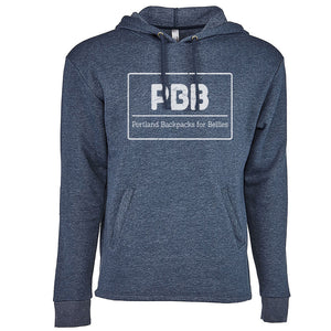 Portland Backpacks for Bellies - Navy Hooded Sweatshirt
