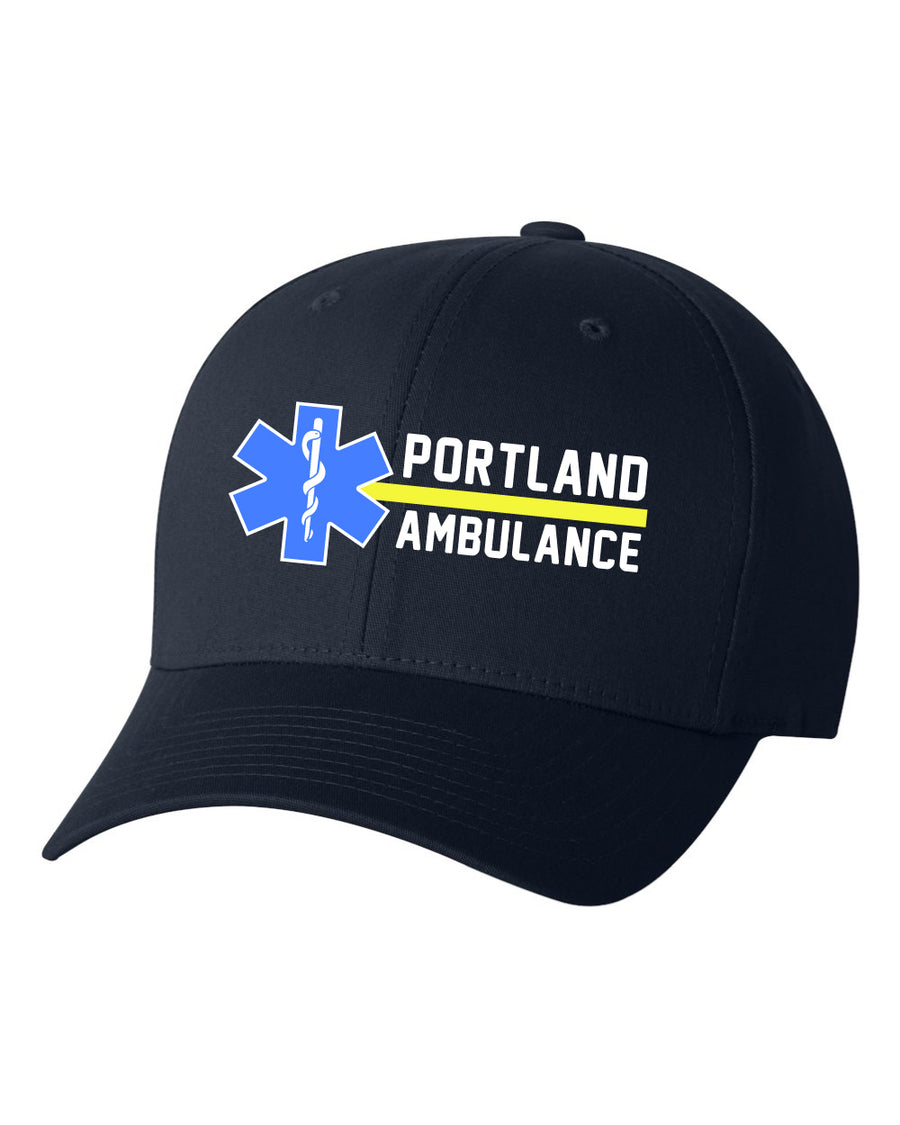 Portland Ambulance - Embroidered Fitted Hat