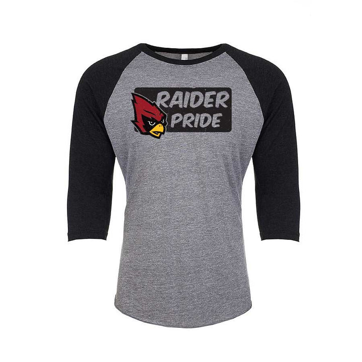 Raider Pride Unisex Baseball Tee for Portland Middle School