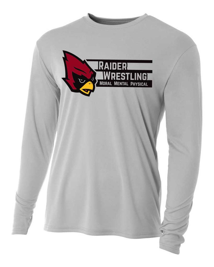 Raiders Wrestling - Moisture Wicking Long Sleeve Shirt