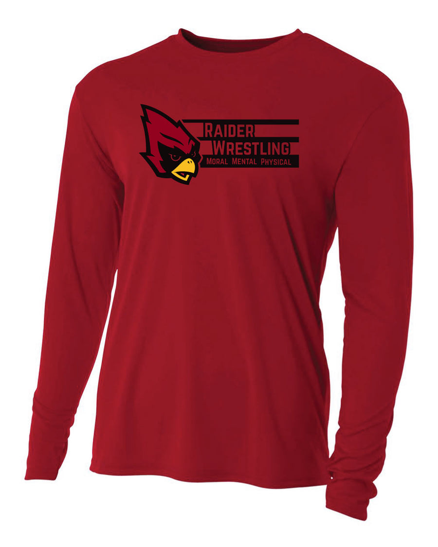 Raiders Wrestling MHSAA - Moisture Wicking Long Sleeve