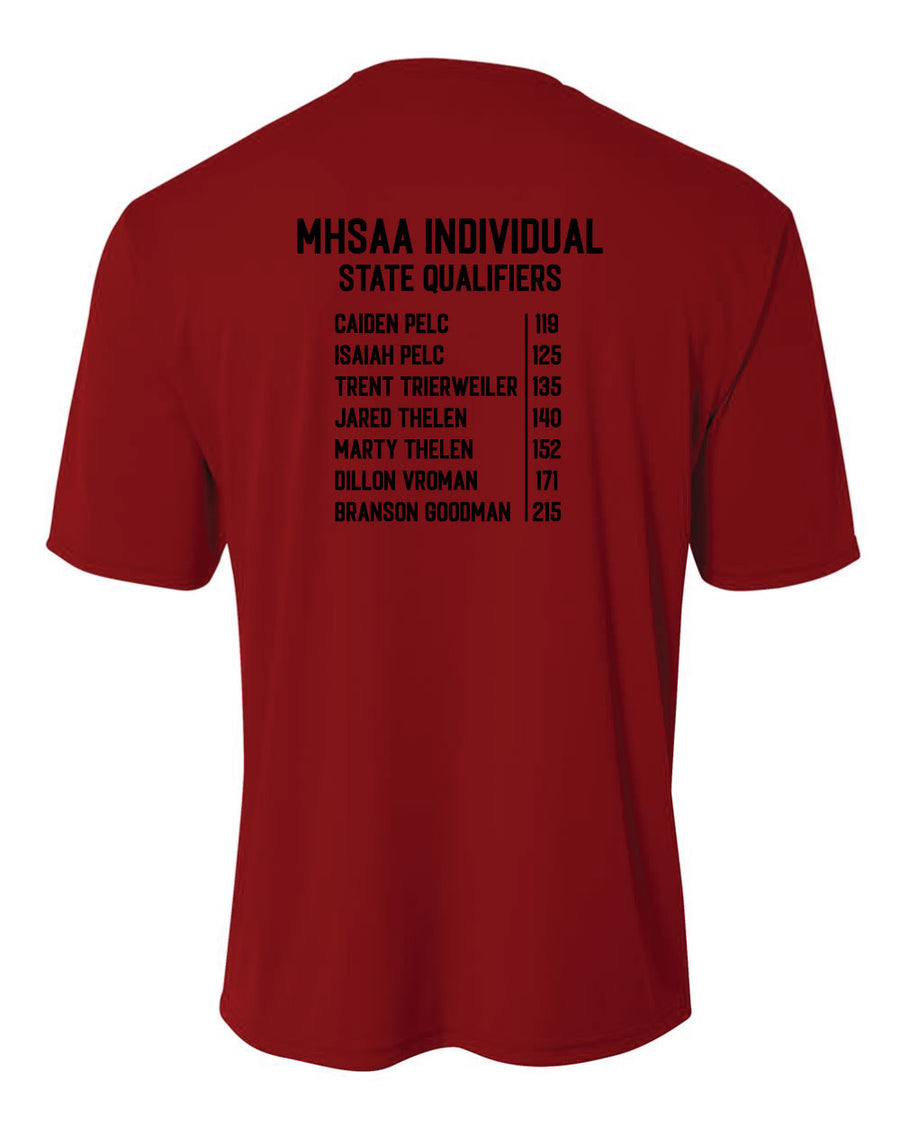 Raiders Wrestling MHSAA - Moisture Wicking Short Sleeve