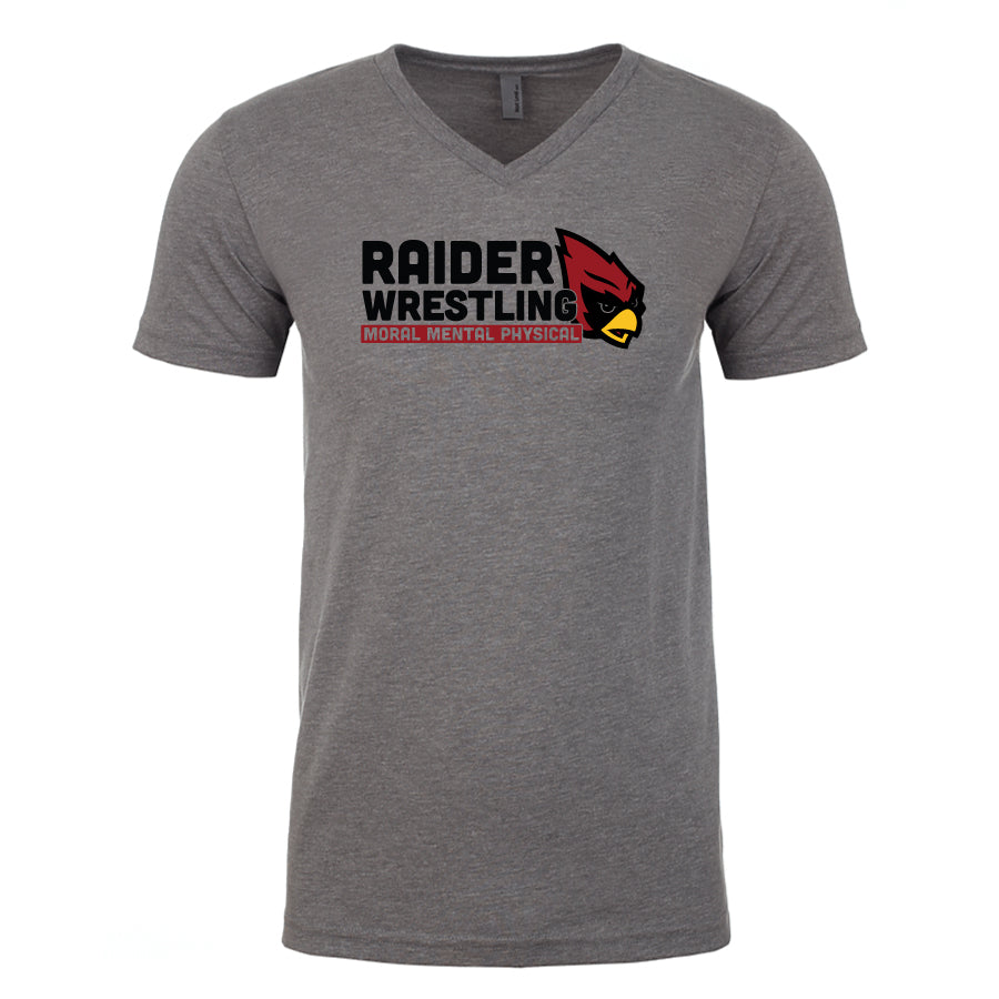 Raiders Wrestling Middle School - Unisex V-Neck T-Shirt