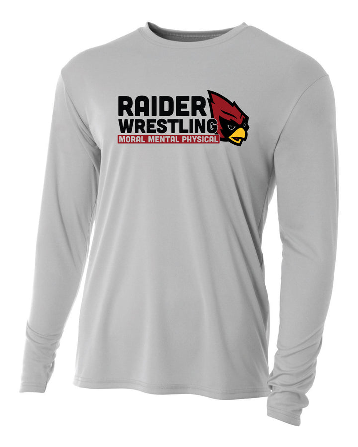 Raiders Wrestling Middle School - Moisture Wicking Long Sleeve Shirt