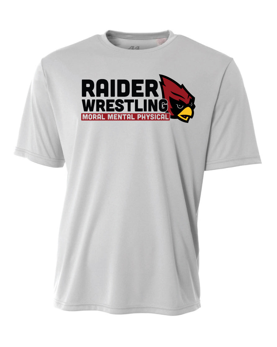Raiders Wrestling Middle School - Moisture Wicking T-Shirt