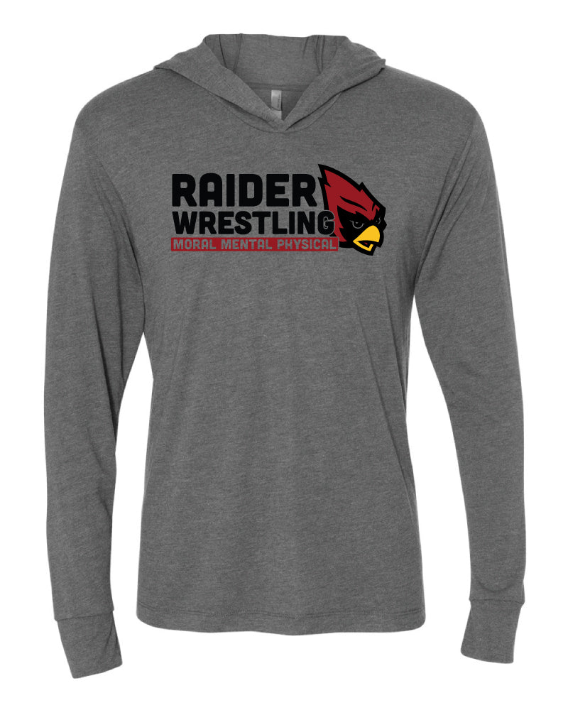 Raiders Wrestling Middle School - Lightweight Hooded Long Sleeve Pullover