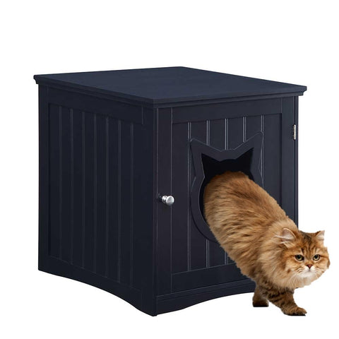 Cat House Nightstand With Litter Box Enclosure - Boujeecat