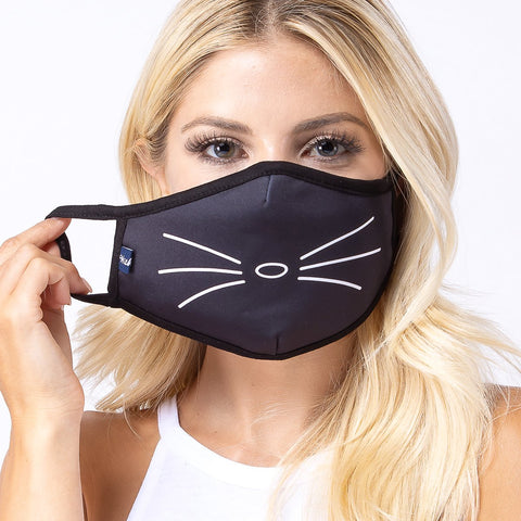 Cat Whiskers Face Mask - Boujeecat