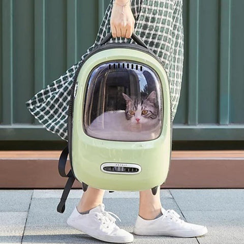 NEW Pet Carrier Bubble Backpack w Built-in Fan and Light - Boujeecat
