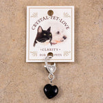 Good Vibes Heart Crystal Collar Charm - Boujeecat