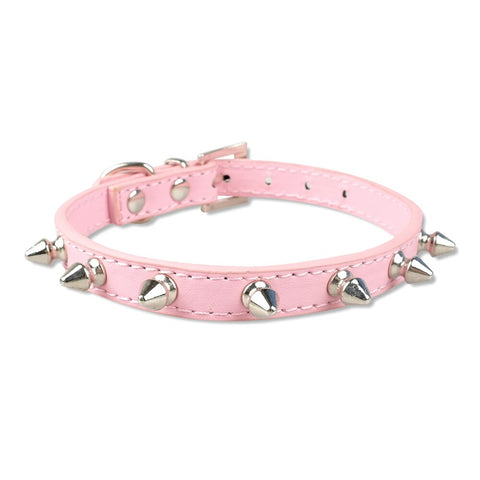 Cool Cat Spiked Leather Collar - Boujeecat