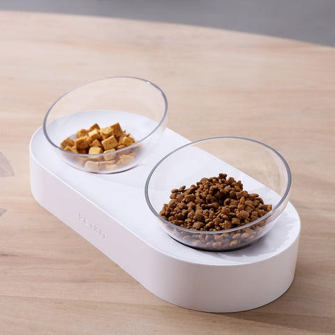Elevated Cat Bowl Single and Double Feeding Bowl - Boujeecat