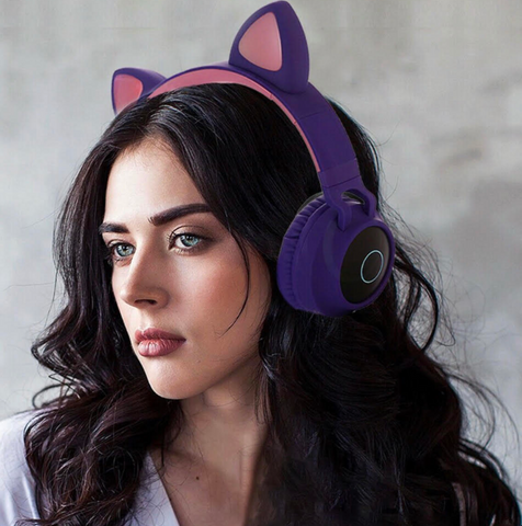 Cat Ear Bluetooth 5.0 Wireless Headphones - Boujeecat