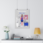 Less People, More Cats Wall Art - Brown Hair Girl - Boujeecat