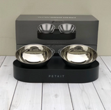 Elevated Cat Bowl Double Stainless Steel Feeding Bowl - Boujeecat