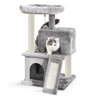 Dual Condo Climber Scratcher Bed with Slide - Boujeecat