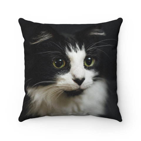Custom Cat Square Pillow - Boujeecat