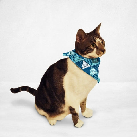 Holiday Wrapping Paper Cat Bandana - Boujeecat