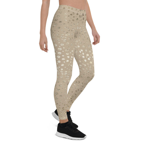 Seamless Metallic Cheetah Print Leggings - Boujeecat