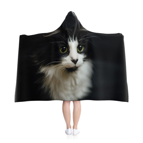 Custom Cat Hooded Blanket - Boujeecat