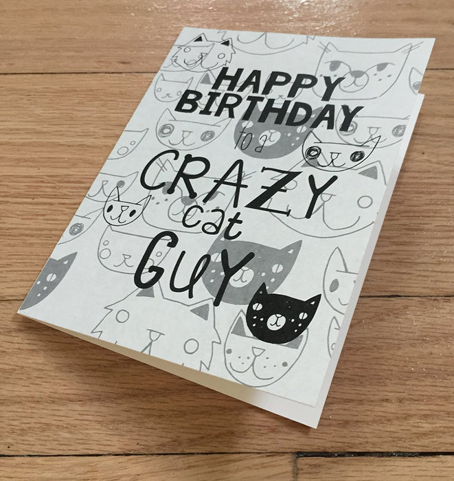 Happy Birthday Crazy Cat Guy card