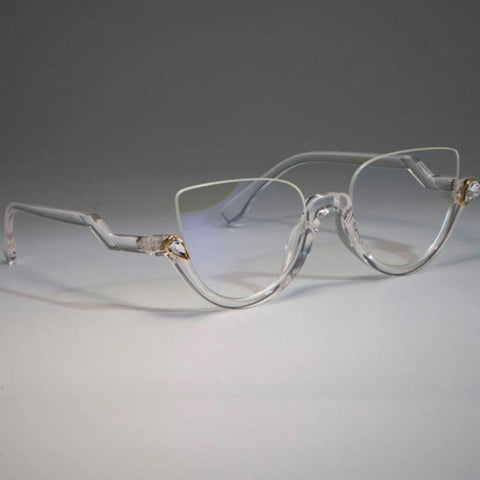 Half Frame Cat Eye Glasses - Boujeecat