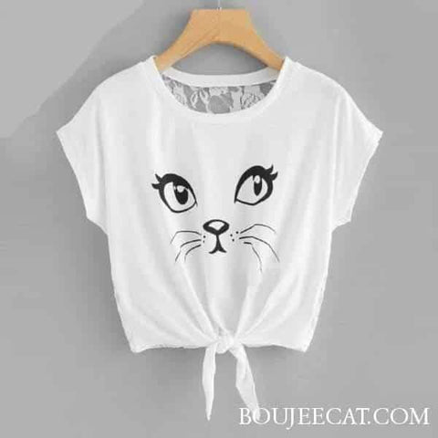 Not Interested Lace T-shirt - Boujeecat