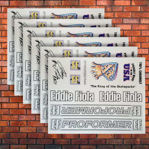 Eddie Fiola Original ProFormer Frame Decal Set