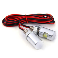 2pcs 12V Car Motorcycle License Plate Screw Bolt Lamp with White Light