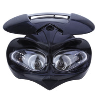 DC 12V 18W Motorcycle Dual Headlight Fairing Head Lamp High / Low Beam for F-Eagle Apollo
