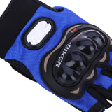 Paired Half-finger Motorcycle Gloves Motorbike Outdoor Sports Riding Breathable Protective Gears