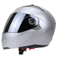 Full Face Motorcycle Helmet Dual Visor Street Bike with Silvering Visor