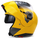 Full Face Motorcycle Helmet Dual Visor Street Bike with Transparent Shield