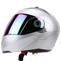 Full Face Motorcycle Helmet Dual Visor Street Bike with Colorful Shield