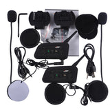 VNETPHONE V6 - 1200M Motorcycle Helmet Bluetooth 3.0 Intercom Multi 6 Riders Interphone Headsets Kits for Motorcyclist Skiers 2pcs