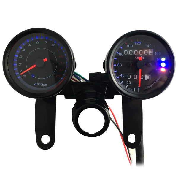 B733 Z 13000 Rpm Dual Color LED Backlights Digital Signal Motorcycle Speedometer Odometer Tachometer
