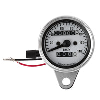 B715 Universal Dual Odometer Speedometer Gauge Speed Meter Night Light LED Backlight Motorcycle Modification Part