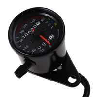 B728 Universal Dual Odometer Speedometer Gauge Speed Meter Night Light LED Backlight Motorcycle Modification Part