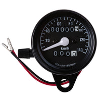 B732 Universal Dual Odometer Speedometer Gauge Speed Meter Night Light LED Backlight Motorcycle Modification Part
